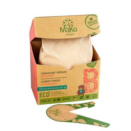 Порошок стиральный baby 1350 г mako clean