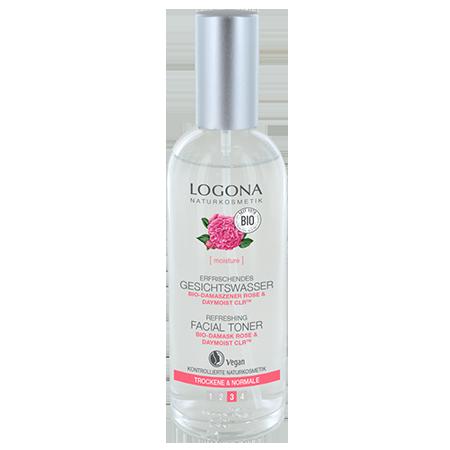Освежающий тоник для лица c био-дамасской розой и комплексом daymoistclr logona