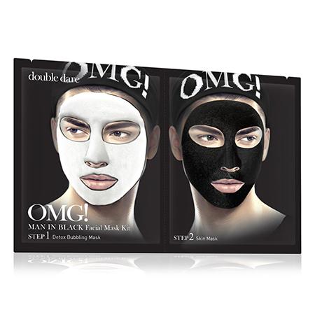 Двухкомпонентный комплекс мужских масок детокс man in black double dare omg!