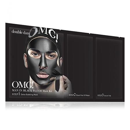Трехкомпонентный комплекс мужских масок смягчение и восстановление man in black double dare omg!