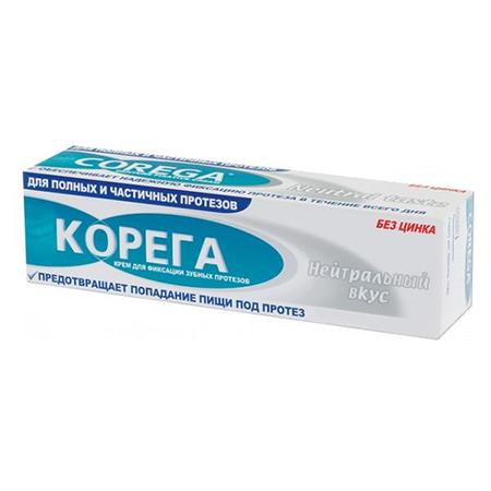 Крем для фиксации зубных протезов с нейтральным вкусом corega (Corega)