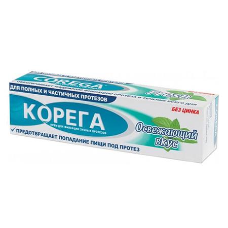 Крем для фиксации зубных протезов с освежающим вкусом corega (Corega)
