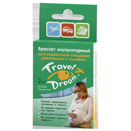 Браслеты от укачивания в транспорте (для беременных) тревел дрим (Travel Dream)