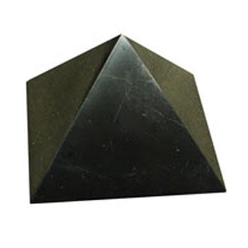 Пирамида полированная 10 см шунгит (Шунгит)
