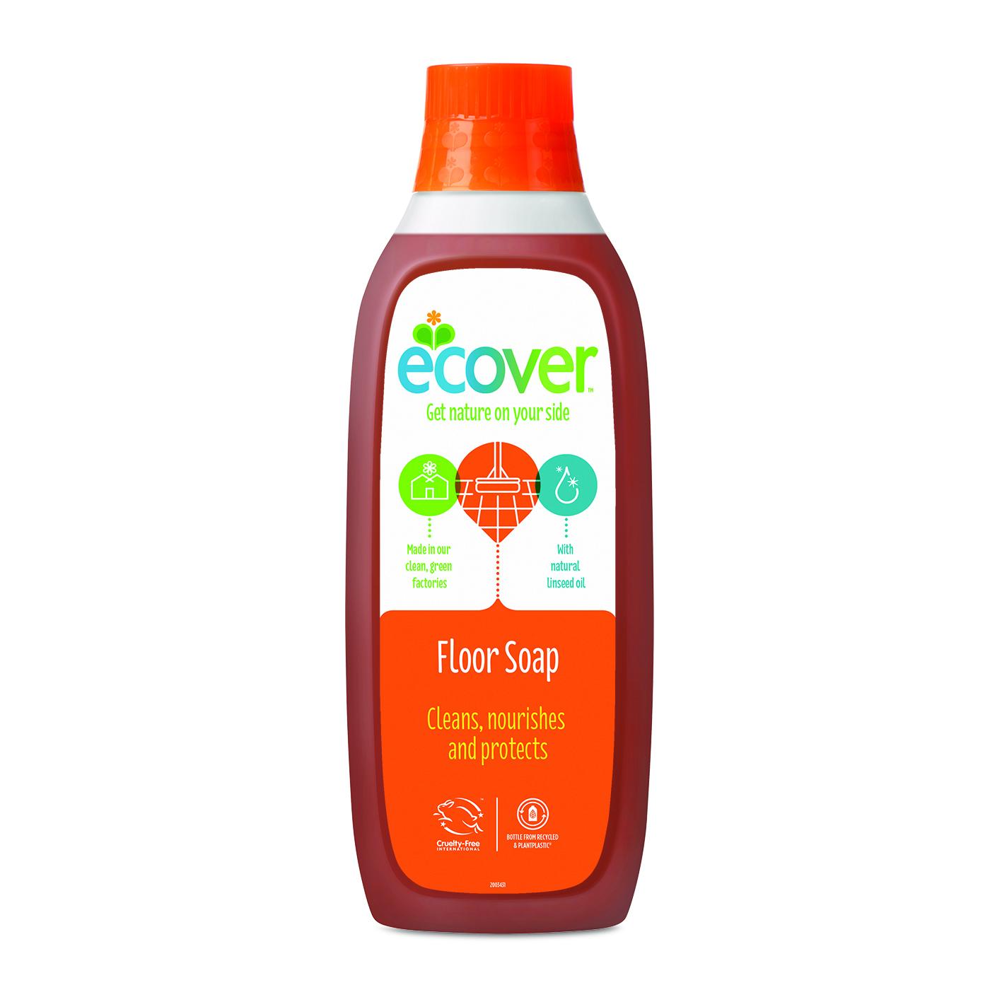 Жидкий концентрат с льняным маслом (для мытья пола)  ecover (Ecover)