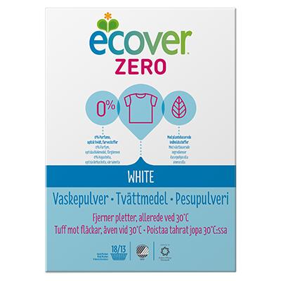 Экологический стиральный порошок zero (экономичный) для белого белья ecover