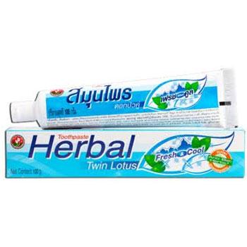 Растительная зубная паста (освежающая) свежесть и прохлада twin lotus (Twin Lotus)