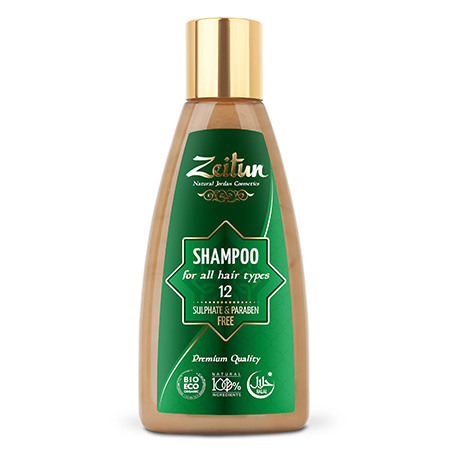 Натуральный шампунь для всех типов волос зейтун №12