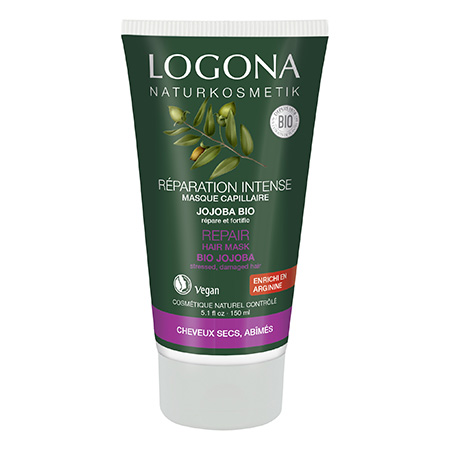 Восстанавливающее средство (крем) для волос с маслом жожоба logona, 150 мл