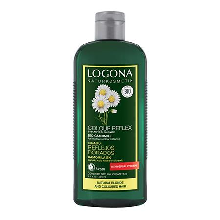 Шампунь для светлых волос с ромашкой color reflex logona, 250 мл