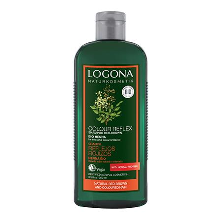 Шампунь для окрашенных волос хна logona, 250 мл