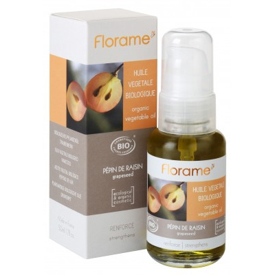 Масло косметическое для любого типа кожи виноградные косточки florame (Florame)