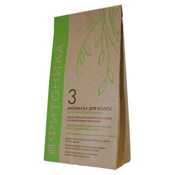 Биомаска для волос на основе бесцветной хны фитоника №3 (Биобьюти)