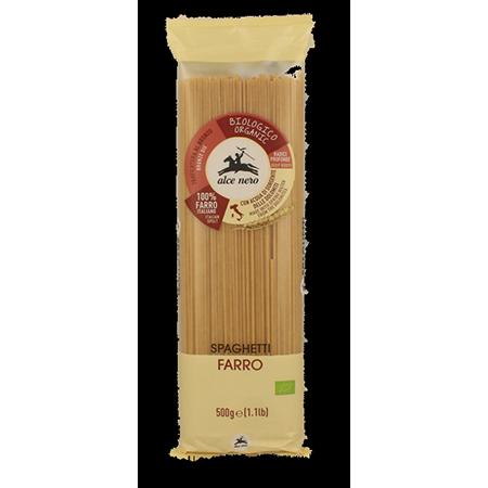 Макароны spaghetti из 100% семолины (спельта) alce nero