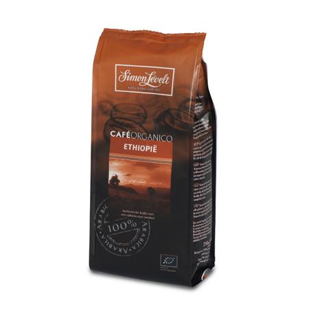 Кофе натуральный жареный молотый kafe organico ethiopie, simon levelt