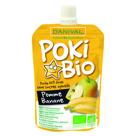 Десерт фруктовый poki bio яблоко-банан danival (DANIVAL)