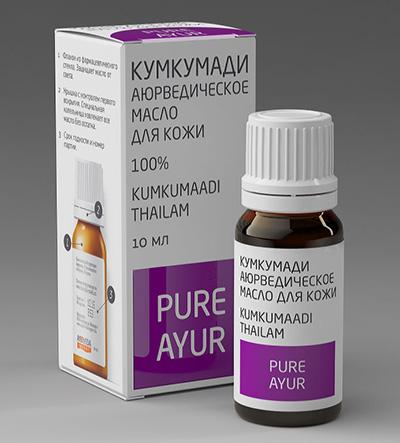 PURE AYUR - КУМКУМАДИ Аюрведическое масло кумкумади