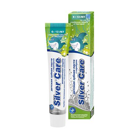 Зубная паста с серебром для детей от 6 до 12 лет silver care