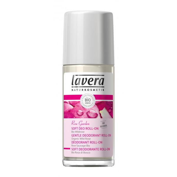 Шариковый био-дезодорант розовый сад lavera