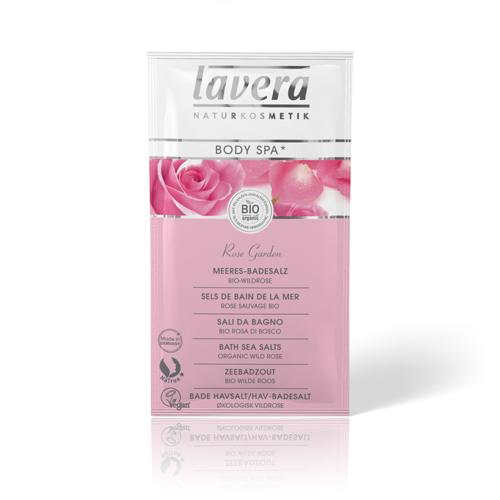 Морская соль для принятия ванн розовый сад lavera (Lavera)