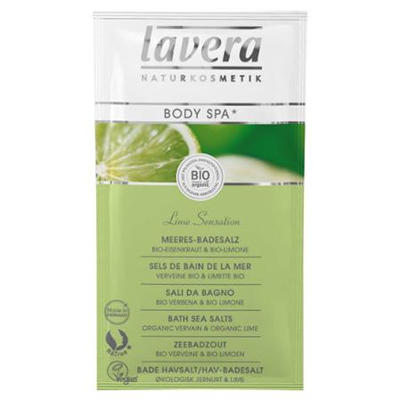 Морская био-соль для ванн сенсация лайма lavera (Lavera)