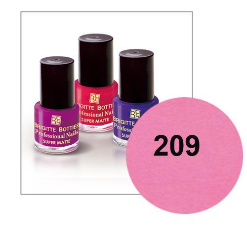 Лак для ногтей с матовым эффектом (оттенок 209, нежно-розовый) prof nails matte brigitte bottier (Brigitte Bottier)