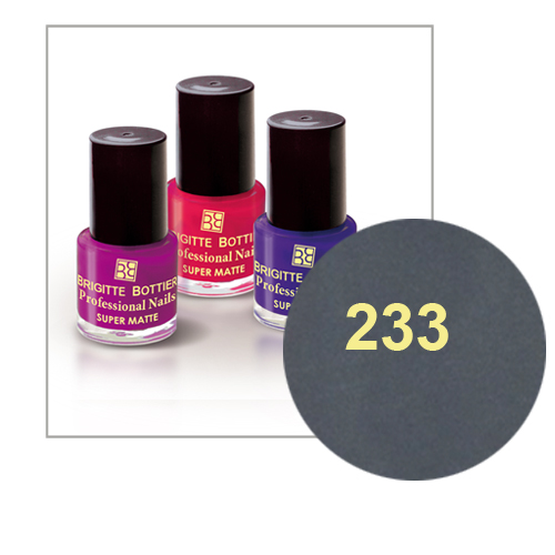 Лак для ногтей с матовым эффектом (оттенок 233, стальной) prof nails matte brigitte bottier (Brigitte Bottier)