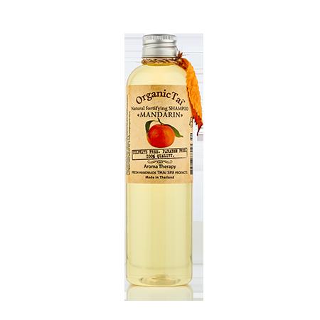 Натуральный укрепляющий шампунь  для волос  мандарин organic tai