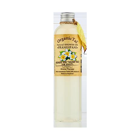 Натуральный гель для душа франжипани organic tai