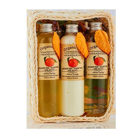 Набор средств для волос и тела мандарин, 780 мл organic tai