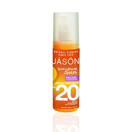 Натуральное солнцезащитное средство для лица spf20, jason (Jason)