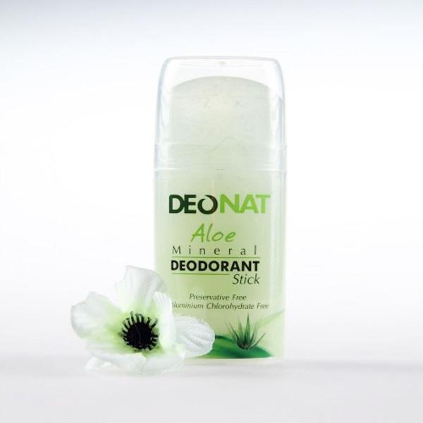 DeoNat Минеральный дезодорант с соком алое, pushup кристалл-деонат