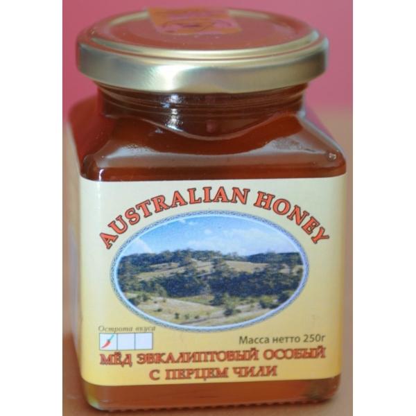 Мёд натуральный эвкалиптовый с перцем чили (слабо острый) living nature (Living Nature)