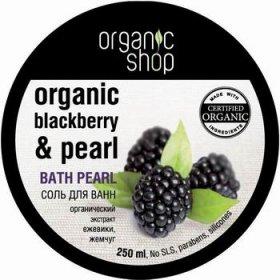 Соль жемчужная для ванн скандинавская ежевика organic shop (Organic Shop)