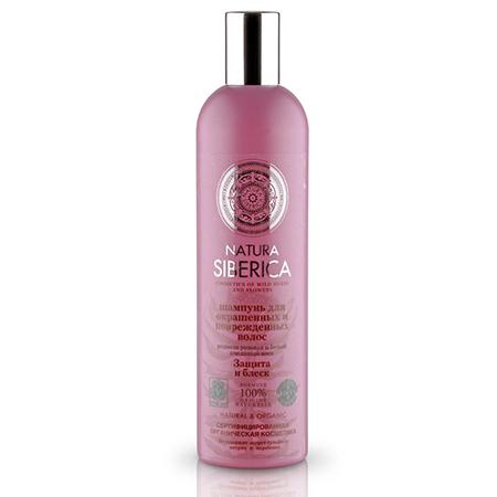 Шампунь для окрашенных и поврежденных волос защита и блеск natura siberica (NATURA SIBERICA)