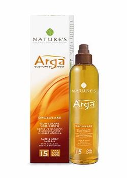 Natures arga масло для лица и тела spf-15