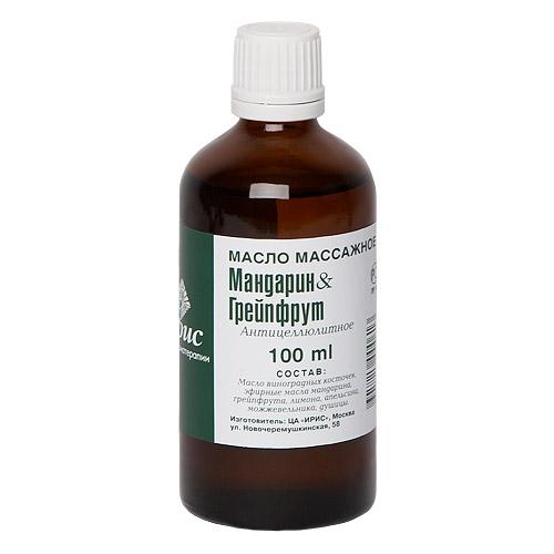 Массажное масло мандарин-грейпфрут iris