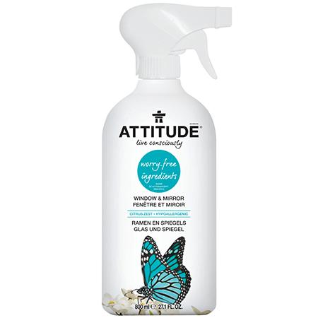 Экологический очиститель для стекол и зеркал (спрей) attitude